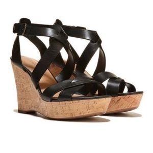 Franco Sarto Sophie 2 Cork Wedge Sandal Size 8.5